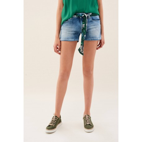 short wonder denim con pañuelo de regalo Salsa Jeans