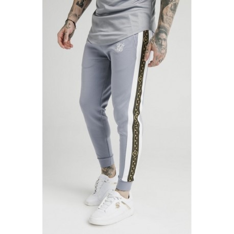 Panelled racer cuffed jogger grey Siksilk