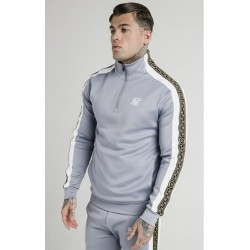 funnel neck track top grey Siksilk