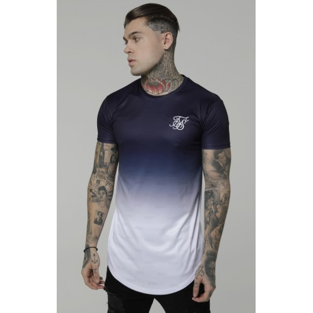 curved gym tee navy/white siksilk