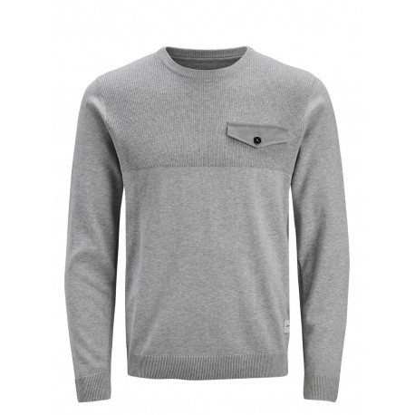 jcopocket knit crew neck jack jones
