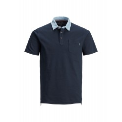 jprdarren aop denim blu polo jack jones