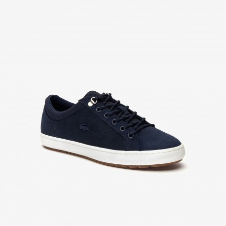 straightset insulate waxed suede navy lacoste
