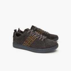 zapatilla carnaby evo 319 gry/gold lace-up lacoste