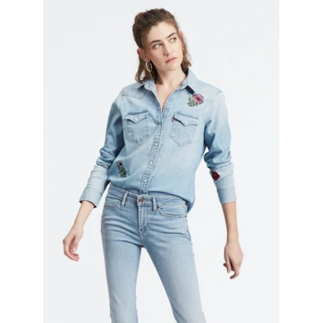 Levis ultimate western pretty in blue