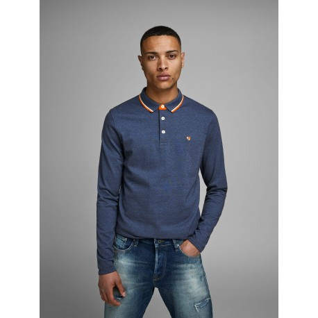 jprpaulos true navy polo ls jack jones