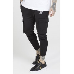 Poly athlete cargo pants black siksilk