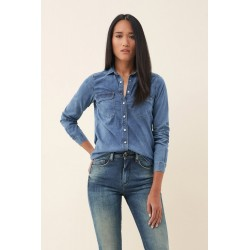 camisa vaquera fit regular Salsa jeans