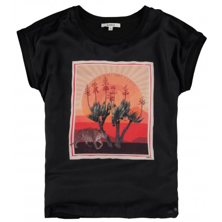 camiseta black graphic garcia jeans