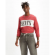 levis logo colorblock crew logo earth red