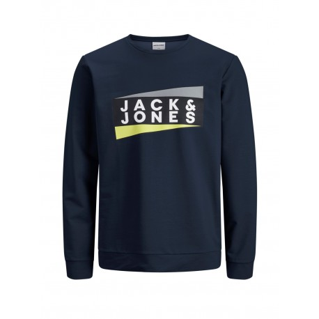 jcoanton sweat crew neck sky captain   jack jones