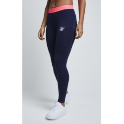 neon tape leggings navy Siksilk