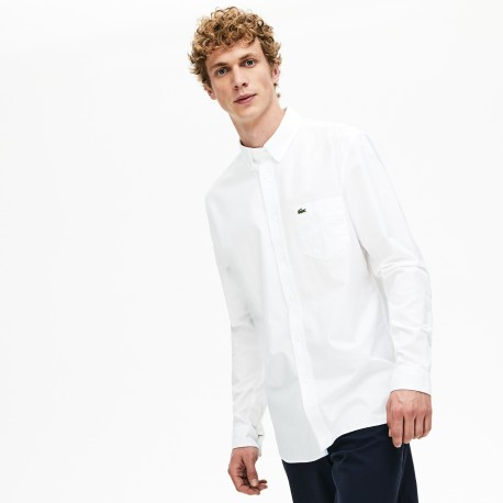 camisa oxford white regular fit Lacoste
