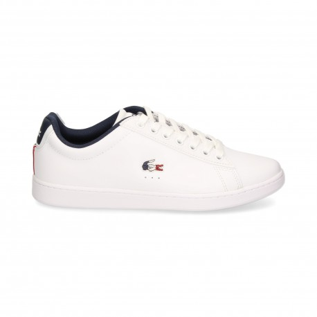 carnaby evo tri  sma wht/nvy/red  lacoste