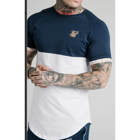 cut sew tech tee navy white siksilk