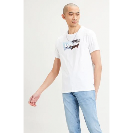 levis housemark graphic hm2  tee ssnl  white