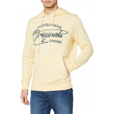 jorpex sweat yelow  hood jack jones
