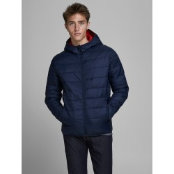 jjemagic puffer hood navy blazer jack jones