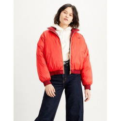 LIDIA REVERSEBLE PUFFER  POPPY RED LEVIS