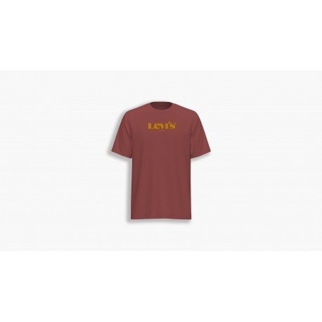 levis relaxed fit tee mv ssnl core marsala
