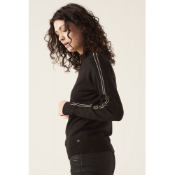Jersey  negro con raya lateral Garcia Jeans