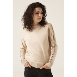 Jersey  beige con raya lateral Garcia Jeans