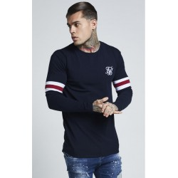 camiseta manga larga tournament navy Siksilk