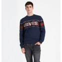 REFLECTIVE CB CREW LOGO SWEAT LEVIS